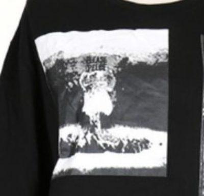 原爆Tシャツのプリント