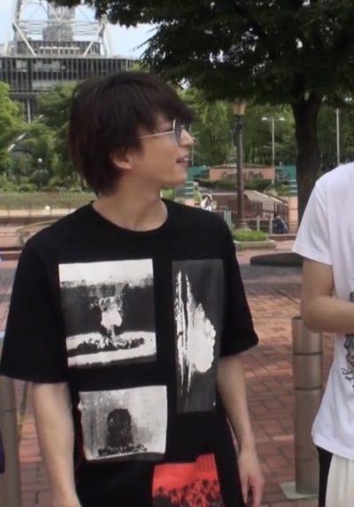 佐久間大介の原爆Tシャツ