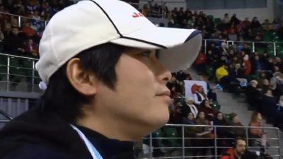 平池大人コーチの横顔