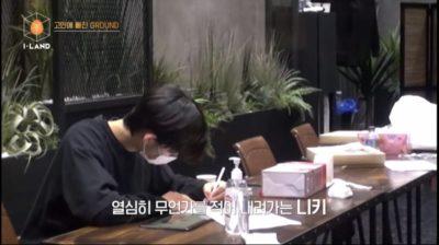 韓国語を書くのも上手なニキ