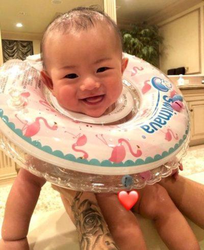 井岡一翔選手の子供のかわいい画像