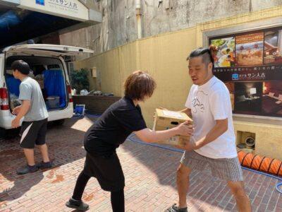 ボランティアをする田村有樹子