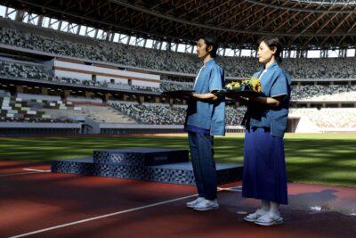 オリンピック表彰式のボランティア衣装③