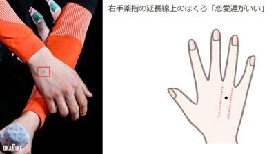 ニキの右手薬指のモテほくろ