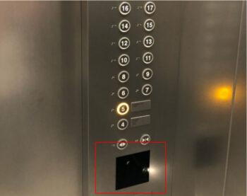 「sequence MIYASHITA PARK」のエレベーター
