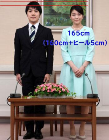 眞子様の身長3