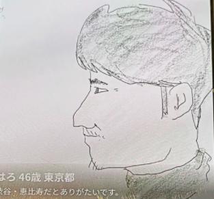 新藤晴一の似顔絵